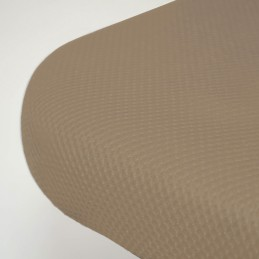Base Tapizada 3D Reforzada con Patas Beige