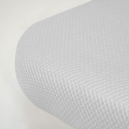Base Tapizada 3D Reforzada con Patas Blanco