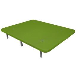 Base Tapizada 3D Reforzada con Patas Verde